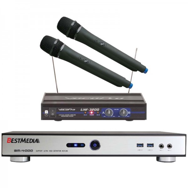 Package 02 BM-4000 Chinese KTV Player with Microphone (6TB)