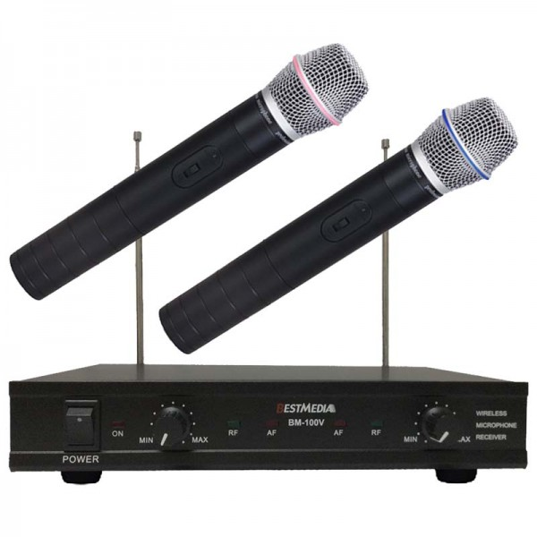BM-100VB VHF Dual Channel Wireless Microphone