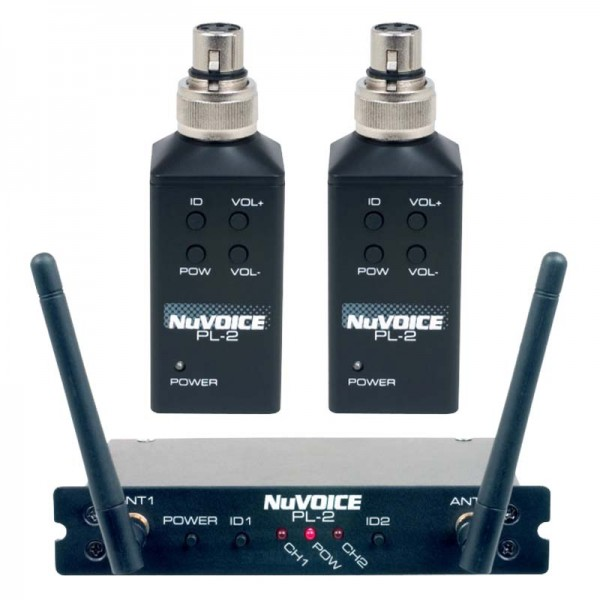 NuVoice PL-2 Two Channel Wireless Plug-On Transmitter System