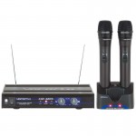 VocoPro UHF-3205 UHF Dual-Channel Rechargeable Wireless Microphone System