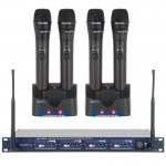 VocoPro UHF-5805 Professional Rechargeable 4-Channel UHF Wireless Microphone System (900MHz)