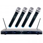 VocoPro VHF-4000 4 Professional Quad VHF Wireless Microphone System